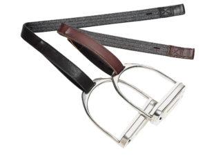 Étrivières BATES cuir/synthétique à crochets