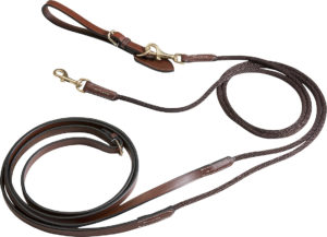 Rênes allemandes cuir/corde ERIC THOMAS PRO