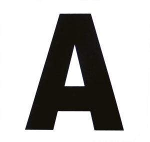 Set de12 lettres de manège HIPPOTONIC autocollantes