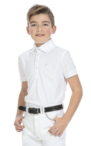 Polo EQUITHÈME Mesh col chemise