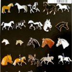 Plaque présentoir 25 pins motifs chevaux