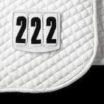 Numéros de départ pour chabraque, rectangulaire, avec fermeture à scratch