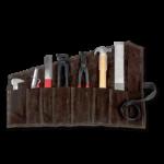 Set de maréchal-ferrant dans un étui en cuir