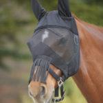 Masque anti-mouche PREMIUM avec protection des oreilles et franges sur le chanfrein