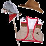 Set cow-boy et cheval de bataille Jack