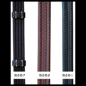Rênes tissu avec 9 arrêtoirs en cuir Working collection Dyon B267